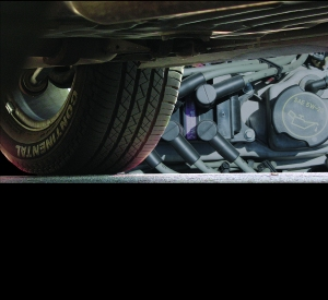 underneath vehicle, oil change