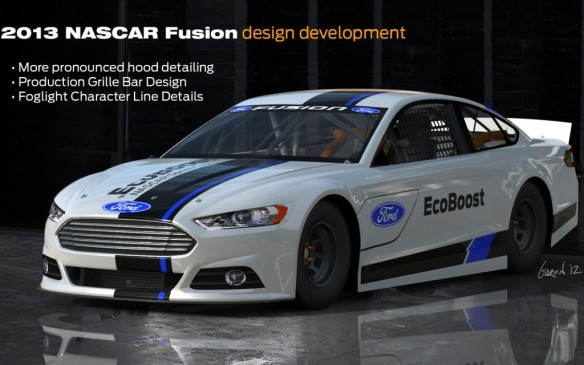 2013-Ford-Fusion-NASCAR-design-development-front-three-quarter-1024x640