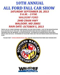 10th annual all ford fall car show