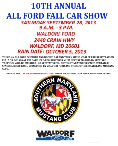 10th annual all ford fall car show